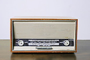 Cutout of a retro Telefonken radio receiver on white background