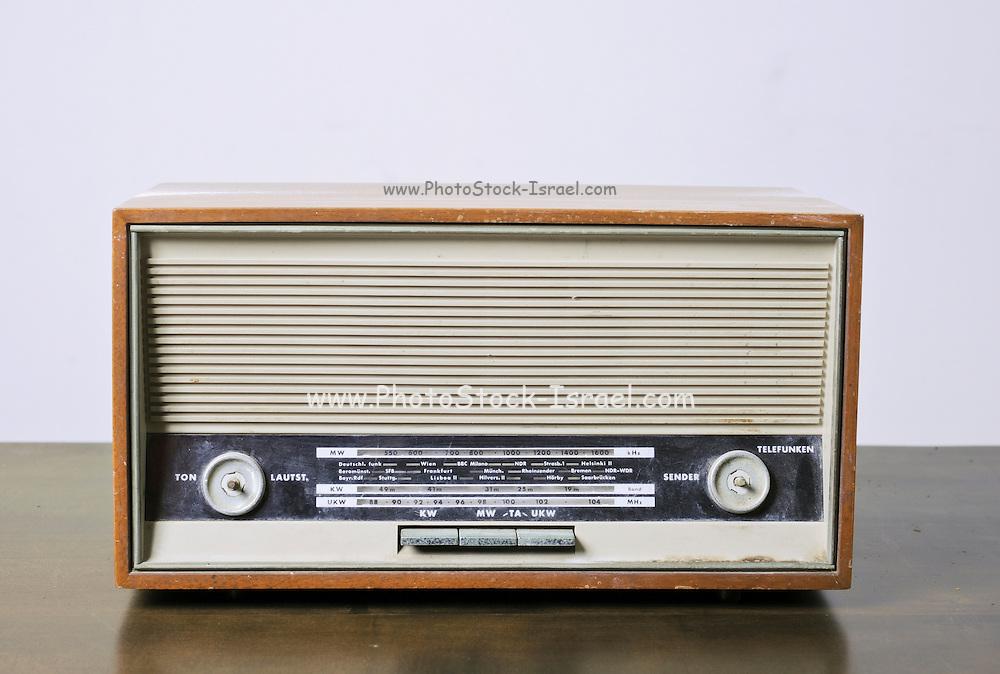 Cutout of a retro Telefonken radio receiver on white background