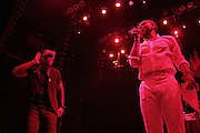 October 27, 2012-New York, NY: Recording Artists BlackStar- (L-R) Talib Kweli and Mos Def aka Yasiin Bey perform at House of Blues on October 27, 2012 in Atlantic City, New Jersey. Black Star arose from the underground movement of the late 1990s, which was in large part due to Rawkus Records, an independent record label stationed in New York City. They released one album, Mos Def & Talib Kweli Are Black Star on August 26, 1998. (Terrence Jennings)