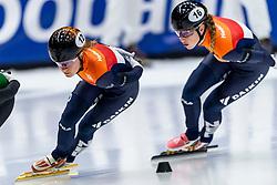 12-01-2019 NED: ISU European Short Track Championships 2019 day 2, Dordrecht<br /> Yara van Kerkhof #12 NED, Lara van Ruijven #16 NED