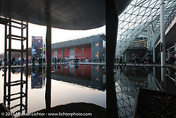 The architecture of the Milano Fiera, home of  EICMA, the largest international motorcycle exhibition in the world. Milan, Italy. November 18, 2015.  Photography ©2015 Michael Lichter.