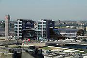 Duitsland, Berlijn, 22-8-2009Gezicht op het centraal station van de stad vanuit de koepel van de reichstag.Foto: Flip Franssen/Hollandse Hoogte