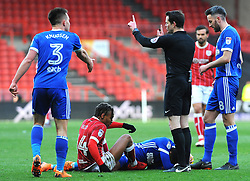 Bobby Reid of Bristol City collides with Cameron Carter-Vickers of Ipswich Town - Mandatory by-line: Nizaam Jones/JMP - 17/03/2018 - FOOTBALL - Ashton Gate Stadium- Bristol, England - Bristol City v Ipswich Town - Sky Bet Championship