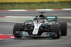 May 12, 2018 - Barcelona, Spain - Motorsports: FIA Formula One World Championship 2018, Grand Prix of Spain, .#44 Lewis Hamilton (GBR, Mercedes AMG Petronas Motorsport) (Credit Image: © Hoch Zwei via ZUMA Wire)