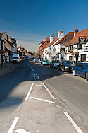 View along Cookham High Street, Berkshire, Uk