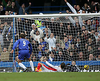 Photo: Lee Earle.<br /> Chelsea v Birmingham City. The Barclays Premiership.<br /> 31/12/2005.<br /> Hernan Crespo (L) opens the scoring for Chelsea.