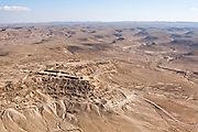 Aerial Photography of the Negev Desert landscape, Israel