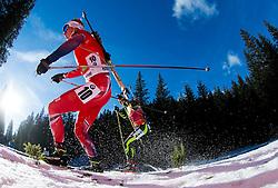 BOE Johannes Thingnes (NOR) competes during Men 12,5 km Pursuit at day 3 of IBU Biathlon World Cup 2014/2015 Pokljuka, on December 20, 2014 in Rudno polje, Pokljuka, Slovenia. Photo by Vid Ponikvar / Sportida