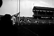 All Ireland Senior Football Championship Final, Dublin v Galway, 22.09.1963, 09.23.1963, 22nd September 1963, Dublin 1-9 Galway 0-10,.Only Goal of the Match,.G Davey (2nd from right) punches ball into net for Dublin goal. Galway Goalie M Moore and other backs look on helplessly ,.