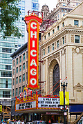 The Chicago theatre, Chicago, Illinois, USA