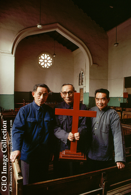 Bishop Moses P. Xie of a nondemoninational Christian group in Fujin.