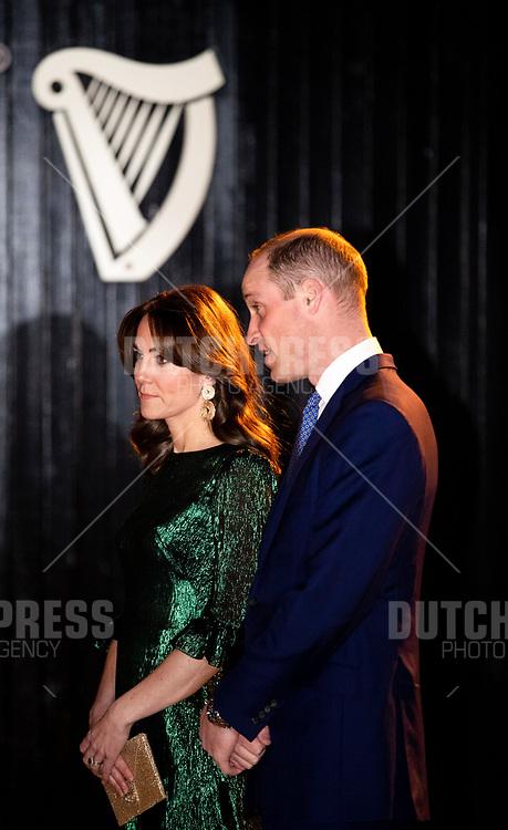 DUBLIN - Prins William en Catherine (Kate Middelton), Hertog en Hertogin van Cambridge bij een Receptie in de Gravity Bar van het Guinness Storehouse in Dublin.