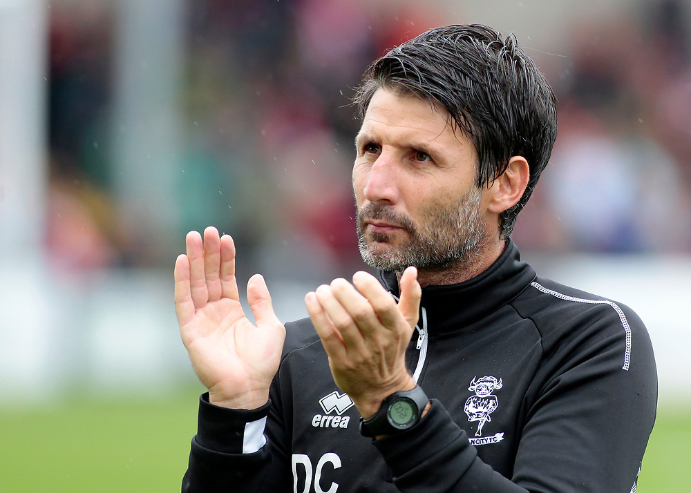 Lincoln City manager Danny Cowley applauds the home fans before kick off.<br /> <br /> Photographer David Shipman/CameraSport<br /> <br /> The EFL Sky Bet League Two - Lincoln City v Crawley Town - Saturday September 8th 2018 - Sincil Bank - Lincoln<br /> <br /> World Copyright © 2018 CameraSport. All rights reserved. 43 Linden Ave. Countesthorpe. Leicester. England. LE8 5PG - Tel: +44 (0) 116 277 4147 - admin@camerasport.com - www.camerasport.com