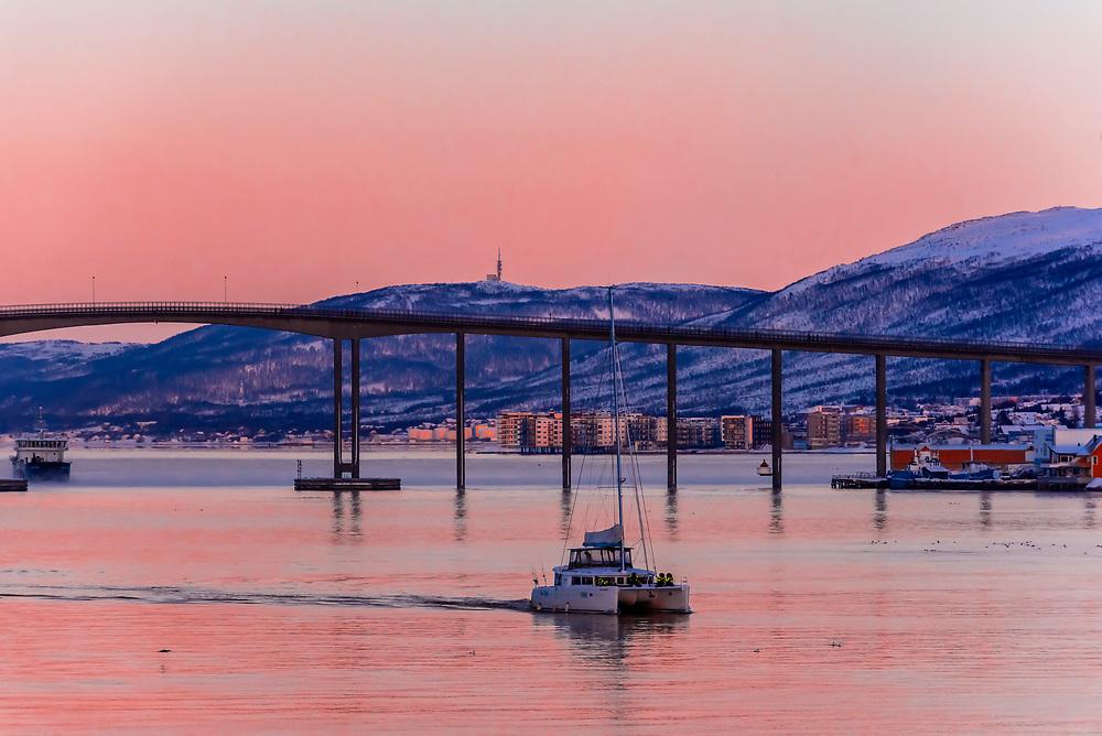 Tromso Bridge, Tromso, Arctic, Northern Norway.