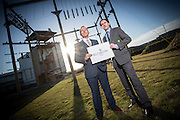 Monday 26th January, 2015, Aberdeen, Scotland.  The launch of the Elevator Awards – formerly the Grampian Awards for Business Excellence.<br /> <br /> Pictured: Elevator chief executive, Gary McEwen, and Russell Whyte, RBS Director of Corporate & Commercial Banking<br /> <br /> (Photo: Ross Johnston/Newsline Media)