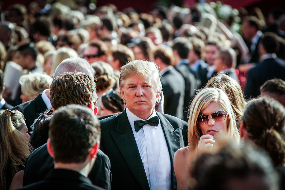 9/18/2005: 57th Annual Emmy Awards  -- Los Angeles, CA --  Donald Trump makes an arrival on the red carpet at the Shrine Auditorium for the EMMY Awards. (Photo by Jack Gruber, USA TODAY) (Via MerlinFTP Drop)