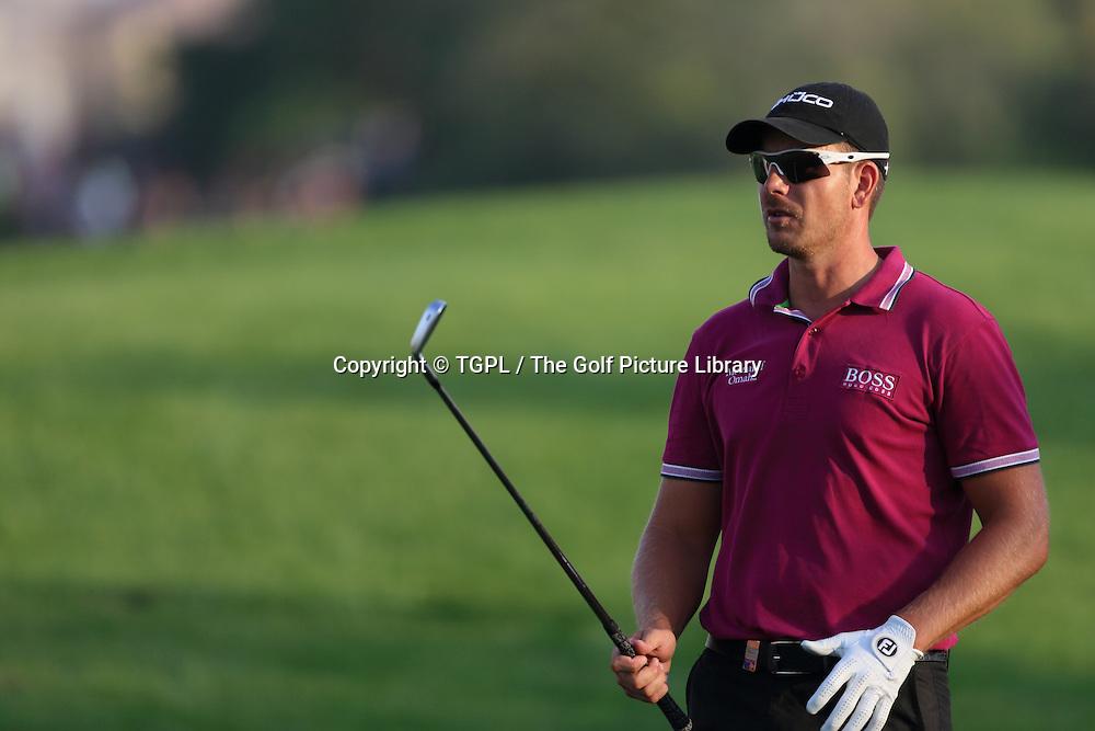 Henrik STENSON (SWE) during second round DP World Tour Championship 2013,Jemeirah Golf Estates, Dubai,UAE.