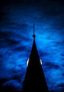 Shy Moon over Oella, Church. Oella, Maryland.