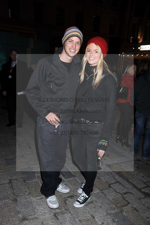 SAM BRANSON and ISABELLA ANSTRUTHER-GOUGH-CALTHORPE at the opening of the Somerset House ice Rink for 2008 sponsored by Tiffany & Co held at Somerset House, The Strand, London on 18th November 2008.