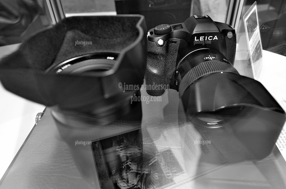 Carefully Placed behind Glass: Leica S-2 Medium Format System. As seen at The NYC PhotoExpo 2011