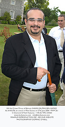 HH the Crown Prince of Bahrain, SHAIKA SALMAN BIN HAMAD AL KHALIFA, at a lunch in West Sussex on 27th June 2004.PWM 261