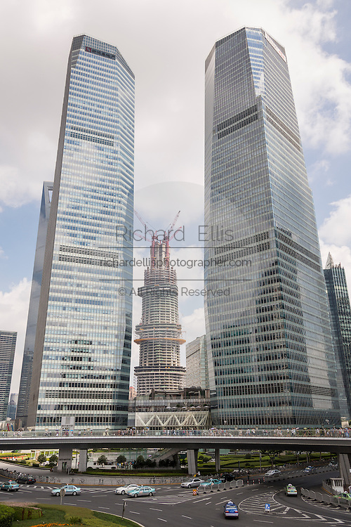 Skyline of Lujiazui Pudong Shanghai, China
