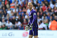 Joe Hart, the Manchester city goalkeeper looks on. Barclays Premier league match, Swansea city v Manchester city at the Liberty Stadium in Swansea, South Wales on Sunday 15th May 2016.<br /> pic by Andrew Orchard, Andrew Orchard sports photography.