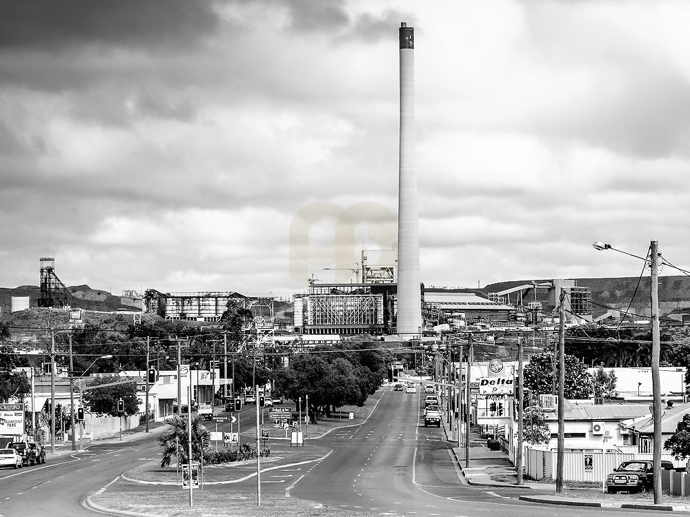 Mount Isa , Australia, (QSL): Exterior view of the Mount Isa, Mines Limited, Power Plant in Queensland, Australia. Signed and editioned prints available at 50x40cm. Get and touch, for commercial uses or other sizes. Photographs by Alejandro Sala | Visit Shop Images to purchase and download a digital file and explore other Alejandro-Sala images…