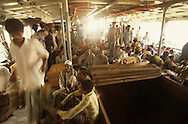 The passenger area of a  ferryboat  in Dhaka, Bangladesh.  Photograph made for a book project on Ferryboats..Photograph by Dennis Brack bb24