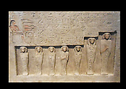 relief from a funerary chapel at lisht, Egypt. limestone 1802-1640 BC 13th Dynasty