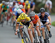 Riders compete in the Category 4 Men's race during the Greater Hartford Cycling Club's New Britain Criterium at Walnut Hill Park in New Britain.