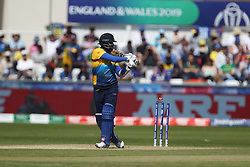 June 28, 2019 - Chester Le Street, County Durham, United Kingdom - Sri Lanka's Angelo Mathews is bowled by Chris Morris during the ICC Cricket World Cup 2019 match between Sri Lanka and South Africa at Emirates Riverside, Chester le Street on Friday 28th June 2019. (Credit Image: © Mi News/NurPhoto via ZUMA Press)
