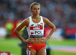 July 14, 2018 - London, United Kingdom - Joanna Linkiewicz of Poland compete in the 400m Hurdles Women during Athletics World Cup London 2018 at London Stadium, London, on 14 July 2018  (Credit Image: © Action Foto Sport/NurPhoto via ZUMA Press)