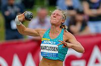 Friidrett<br /> Foto: imago/Digitalsport<br /> NORWAY ONLY<br /> <br /> 30.05.2015, Moeslestadion, Goetzis, AUT, 41. Hypo Meeting 2015, Siebenkampf der Frauen, Kugelstossen, im BildIda Marcussen (NOR) // Ida Marcussen of Norway during the 41. Hypo Meeting Goetzis 2013, Women s Heptathlon, Shot put, at the Moeslestadion, Goetzis, Austria on 2015/05/30.