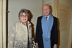 LONDON, ENGLAND 28 NOVEMBER 2016: Joanna Booth and Fabian Stein at a reception to celebrate the publication of The Sovereign Artist by Christopher Le Brun and Wolf Burchard held at the Royal Academy of Art, Piccadilly, London, England. 28 November 2016.