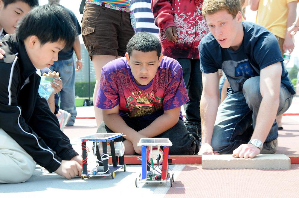 Citizen Schools student complete their Solar Car Apprenticeship at MIT.