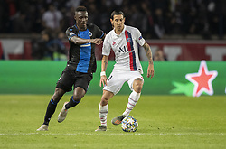DI MARIA Angel from PSG In action during the UEFA Champions League Group A football match Paris Saint-Germain (PSG) v Club Brugge at the Parc des Princes stadium in Paris, France, on November 6, 2019. Photo by Loic BaratouxABACAPRESS.COM