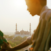 Local in front of The Great Imambara, Lucknow, Uttar Pradesh, India