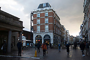 Winter light scene in Covent Garden in London, England, United Kingdom.