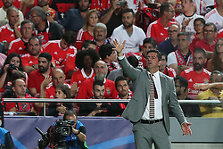 September 19, 2018 - Lisbon, Portugal - Benfica's head coach Rui Vitoria gestures during the UEFA Champions League Group E football match SL Benfica vs Bayern Munich at the Luz stadium in Lisbon, Portugal on September 19, 2018. (Credit Image: © Pedro Fiuza/NurPhoto/ZUMA Press)