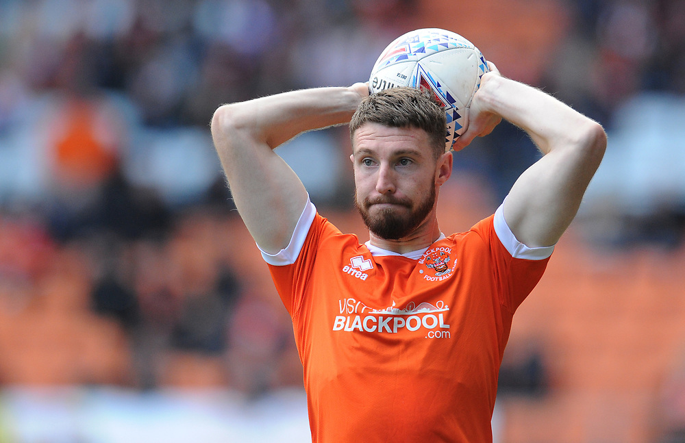Blackpool's James Husband<br /> <br /> Photographer Kevin Barnes/CameraSport<br /> <br /> The EFL Sky Bet League One - Blackpool v Rotherham United - Saturday 12th October 2019 - Bloomfield Road - Blackpool<br /> <br /> World Copyright © 2019 CameraSport. All rights reserved. 43 Linden Ave. Countesthorpe. Leicester. England. LE8 5PG - Tel: +44 (0) 116 277 4147 - admin@camerasport.com - www.camerasport.com