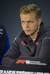 November 8, 2018 - Sao Paulo, Sao Paulo, Brazil - KEVIN MAGNUSSEN (DEN), of Haas F1 Team, during the FIA press conference for the Formula One Grand Prix of Brazil 2018 at Interlagos circuit, in Sao Paulo, Brazil. The grand prix will be celebrated next Sunday, November 11. (Credit Image: © Paulo Lopes/ZUMA Wire)