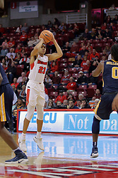 09 December 2017:  William Tinsley elevates to release a 3 point attempt during a College mens basketball game between the Murray State Racers and Illinois State Redbirds in  Redbird Arena, Normal IL