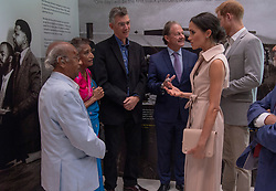 July 17, 2018 - London, London, United Kingdom - Image licensed to i-Images Picture Agency. 17/07/2018. London, United Kingdom. The Duke and Duchess of Sussex meet Nelson Mandela's friends Paul and Adelaide Joseph at the Nelson Mandela exhibition in London. (Credit Image: © Pool/i-Images via ZUMA Press)