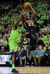 December 16, 2017 - Minneapolis, MN, USA - The Phoenix Suns' Danuel House Jr. (23) is fouled on the way to the basket by the Minnesota Timberwolves' Jamal Crawford (11) in the second quarter on Saturday, Dec. 16, 2017, at Target Center in Minneapolis. (Credit Image: © Aaron Lavinsky/TNS via ZUMA Wire)