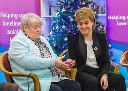 First Minister Nicola Sturgeon takes part in an inter-generational tea party as she backs a campaign by Age Scotland encouraging people to support their older friends, neigbours and relatives at Christmas.
