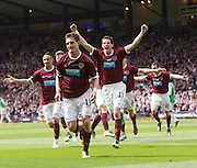 The William Hill Scottish FA Cup Final 2012 Hibernian Football Club v Heart Of Midlothian Football Club..19-05-12...Rudi Skacel of Hearts celebrates during the William Hill Scottish FA Cup Final 2012 between (SPL) Scottish Premier League clubs Hibernian FC and Heart Of Midlothian FC. It's the first all Edinburgh Final since 1986 which Hearts won 3-1. Hearts bid to win the trophy since their last victory in 2006, and Hibs aim to win the Scottish Cup for the first time since 1902....At The Scottish National Stadium, Hampden Park, Glasgow...Picture Mark Davison/ ProLens PhotoAgency/ PLPA.Saturday 19th May 2012.