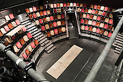 The Jones Playhouse interior was remodeled in 2009. Originally a storehouse and remodeled into a theatre in 1930, the Floyd and Delores Jones Playhouse (originally called the Seattle Repertory Playhouse), was the very first state sponsored theatre in the nation and was home to WPA projects and the Negro Theatre Projects, NTP (part of Federal Theatre Project, FTP). It has a thrust stage and seats 210. Located at 4045 University Way NE, Seattle, Washington, USA.