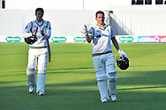 Gary Ballance of Yorkshire walks off at the end of play on day 1 unbeaten on 120 not out during the Specsavers County Champ Div 1 match between Hampshire County Cricket Club and Yorkshire County Cricket Club at the Ageas Bowl, Southampton, United Kingdom on 11 April 2019.