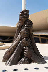 Flagpole base at the new National Museum of Qatar in Doha , Qatar. Architect Jean Nouvel.